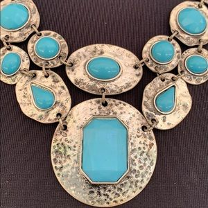 Ruby Rd. Jewelry - Necklace J87 Ruby Rd Faux Turquoise Silver